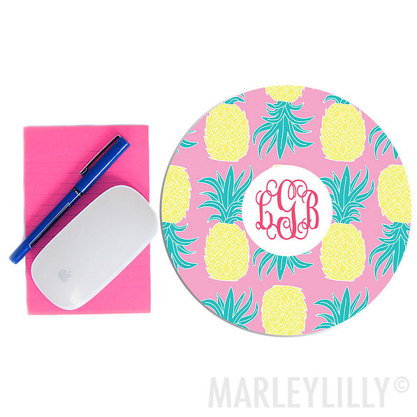 """Monogrammed 8"""" Mouse Pad"""