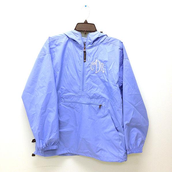 BLOOPER: Monogrammed Pullover Rain Jacket