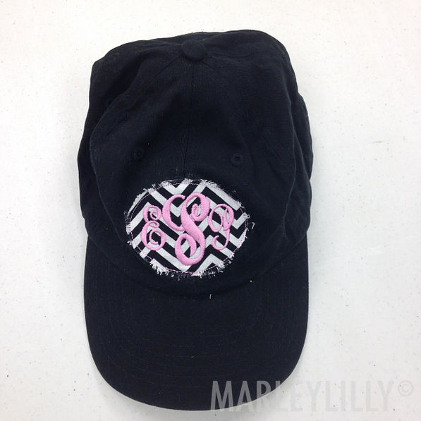 BLOOPER: Monogrammed Frayed Patch Baseball Hat