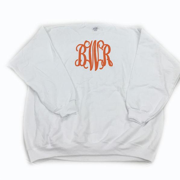 BLOOPER: Monogrammed Crewneck Sweatshirt