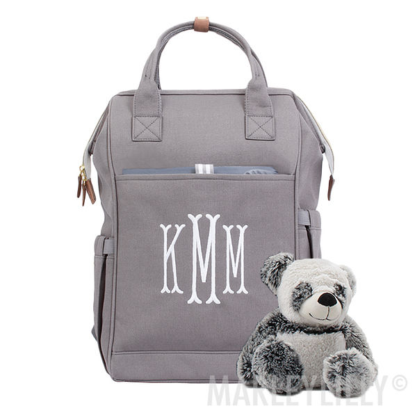 Personalized Canvas Diaper Backpack