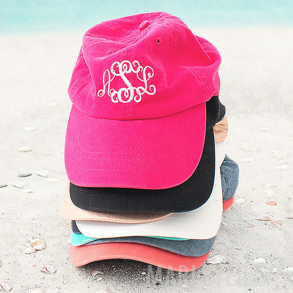 monogrammed rose gold baseball hat