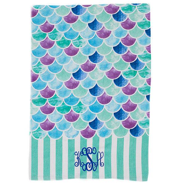 Monogrammed Princess Beach Towel: Monogrammed Beach Towel