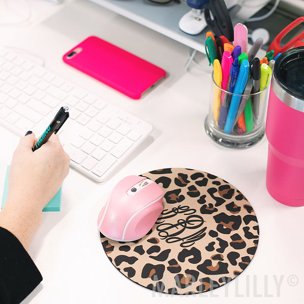monogrammed mouse pads in different designs