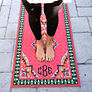 red carpet embroidered yoga mat