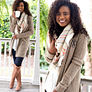 monogrammed camel boyfriend cardigan with monogrammed riding boots
