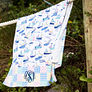 Monogrammed Sailboats Beach Towel