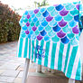 Personalized Beach Towel in Mermaid Print