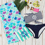 Monogrammed Mermaid Beach Towel