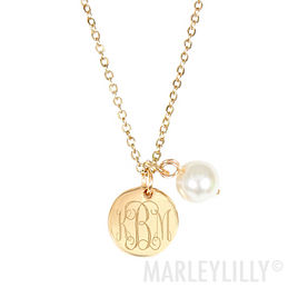 Monogrammed Simply Sweet Pearl Necklace
