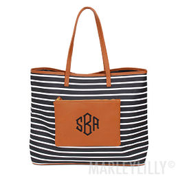 Monogrammed Overnight Tote Bag