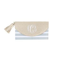 Monogrammed Fold Over Wallet