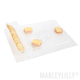 Monogrammed Acrylic Cheese & Cracker Tray