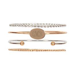 Monogrammed Bracelet Set