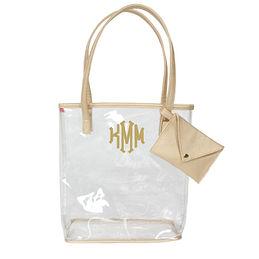 Monogrammed Clear Bag