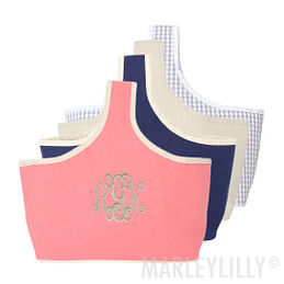 Monogrammed Caddy Basket