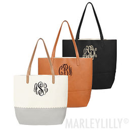 Monogrammed Basic Tote Bag