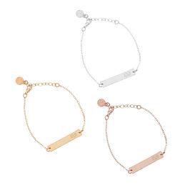 Monogrammed Bar Bracelet