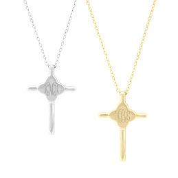 Monogrammed Keepsake Cross Necklace
