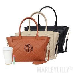 Monogrammed Quilted Purse
