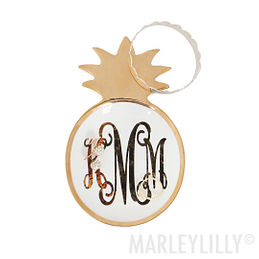 Monogrammed Pineapple Tray