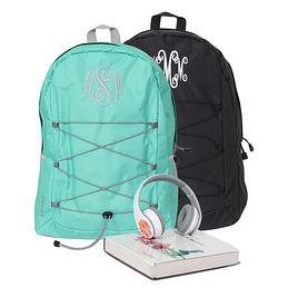 Monogrammed Laptop Backpack