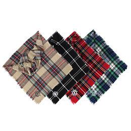 Monogrammed Blanket Scarf Poncho