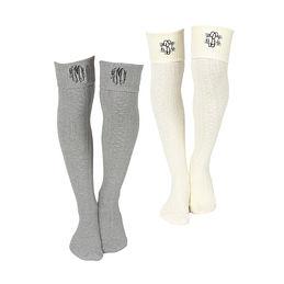 Monogrammed Tall Knee Socks