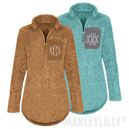 Monogrammed Sherpa Pullover Tunic