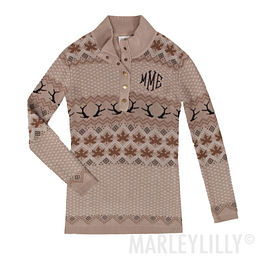Monogrammed Knit Sweater
