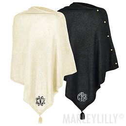 Monogrammed Luxe Poncho