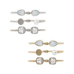 Monogrammed Cuff Bracelet Set
