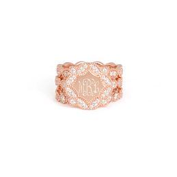 Monogrammed Vintage Ring Stack
