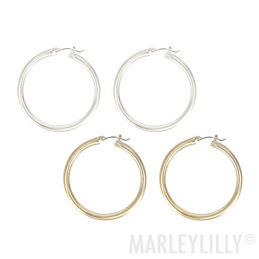 Featherweight Brushed Hoop Earrings