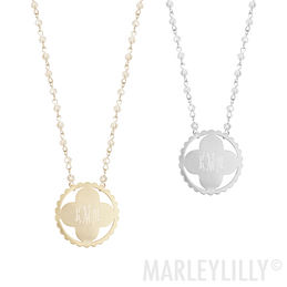 Monogram necklace marleylilly 2999 2999 monogrammed long pendant necklace mozeypictures Gallery
