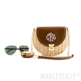 Monogrammed Wicker Purse