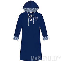 Monogrammed Hooded Cover Up Tunic