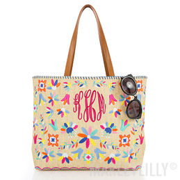 Monogrammed Mexicali Tote Bag