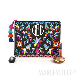 Monogrammed Mexicali Clutch