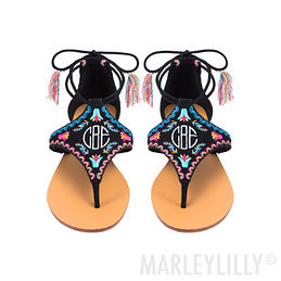 Monogrammed Mexicali Sandals