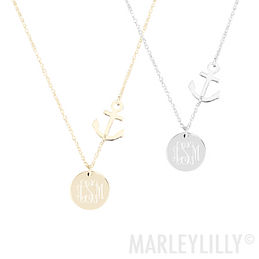 Monogrammed Anchor Necklace