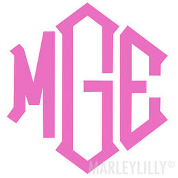 Monogrammed 5 inch Decal Sticker