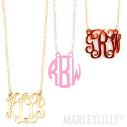 Acrylic Monogrammed Necklace