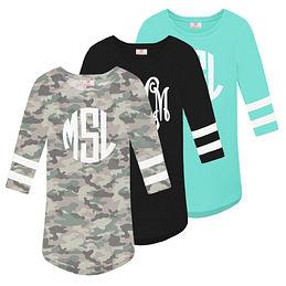 Monogrammed Varsity T-Shirt
