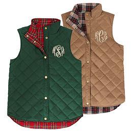 Monogrammed Reversible Vest