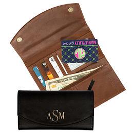 Monogrammed Leather Wallet