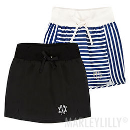 Monogrammed Athleisure Skirt