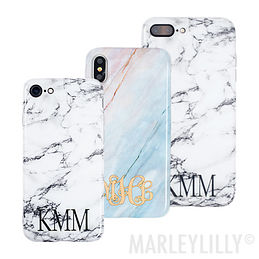 Monogrammed Marble Phone Case