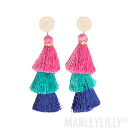 Monogrammed Tassel Earrings