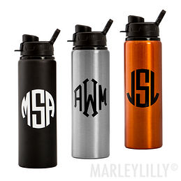 Monogrammed Sport Water Bottle